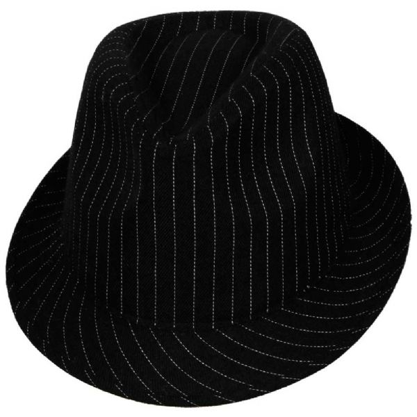 Fedora - Black with Pinstripes